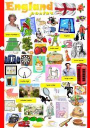 English Worksheet: England poster
