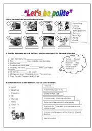 English Worksheets: Let�s be Polite!