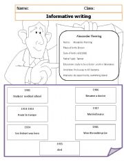 English Worksheets: informative writing