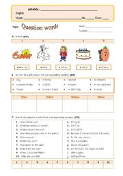 English Worksheets: W-H Questions