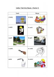 English Worksheets: Words that are both nouns and verbs