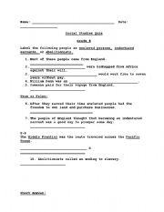 English Worksheets: Indentured Servants