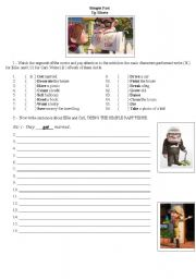 English Worksheet: Up Movie - Past simple activity