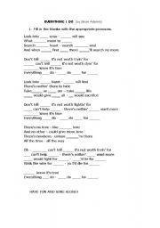 English teaching worksheets: Verbs