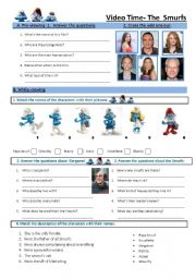 English Worksheets: The Smurfs movie worksheet