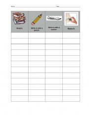 English Worksheets: Sight Word Practice