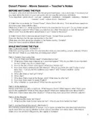 DESERT FLOWER - Movie Worksheet (Teacher´s Notes)