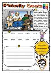 English Worksheets: Priority Seats