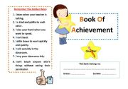 English Worksheets: Book Of Achievement