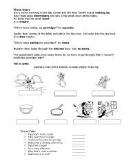 English Worksheets: Three bears