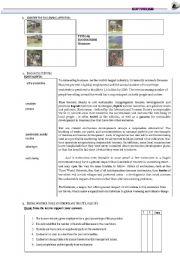 English Worksheets: ECOTOURISM- Reading Comprehension