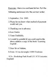 English Worksheets: Confused letter