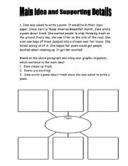 photo regarding Main Idea Graphic Organizer Printable identified as Deciding the principal concept worksheets