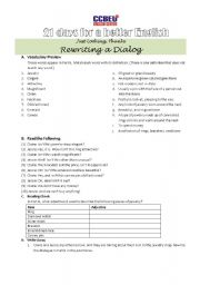 English Worksheets: Just Looking, Thanks