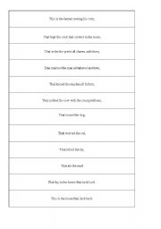 English Worksheets: The House that Jack Built - Jigsaw reading and vocab