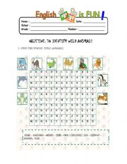 English Worksheets: test animals