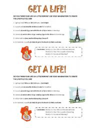 English Worksheets: get a life!