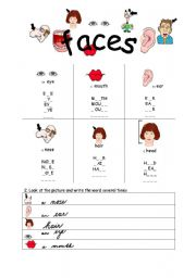English Worksheets:  Faces 1