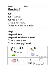 Phonics Words Stories TR Reading Comprehension Worksheet