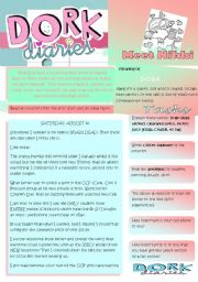 English Worksheets: DORK Diaries
