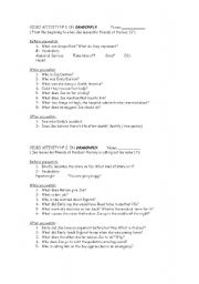 English Worksheets: Dragonfly movie worksheet