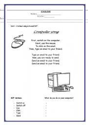 Printables Computer Science Worksheets worksheets computer science laurenpsyk free english teaching computers song