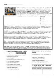 English Worksheets: The Penguins of Madagascar_reading comprehension