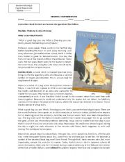 English Worksheets: Hachiko Waits Reading Comprehension
