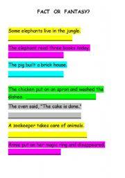 English Worksheets: Fact or fantasy?