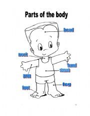 Parts of the body - ESL worksheet by ptyto