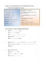 English Worksheets: Greeting / Introducing people