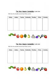 English Worksheets: The Very Hungry Caterpillar - Sequencing Worksheet