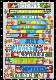 English Worksheet: MONTHS - POSTER