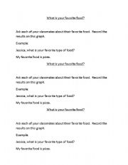English Worksheets: Favorite Foods