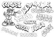 English Worksheet: Graffiti colours