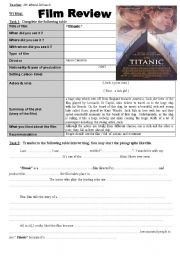 English Worksheet: Writing: Film Review