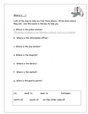 English Worksheets: Where is ?