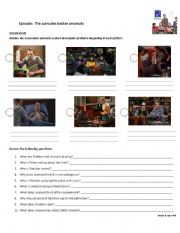 English Worksheet: The Big Bang Theory - Sheldon is sick