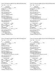 English Worksheet: I will always love you by Whitney Houston