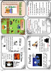 English Worksheet: My Halloween vocabulary minibook.