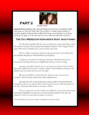 English Worksheets: Writing on the Amanda Knox case (Part 2)