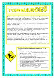 English Worksheets: Tornadoes