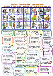 English Worksheet: AT THE ZOO.WHO�S TALKING/15