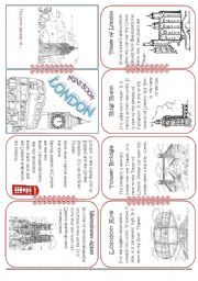 English Worksheet: London Mini Book1