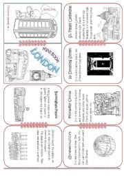 English Worksheet: London Mini Book2