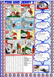 English Worksheets: TOM AND JERRY 2