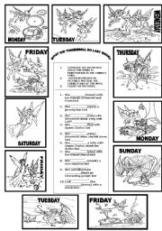 English Worksheets: WHAT DID TINKERBELL DO LAST WEEK?