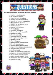 English Worksheets: ASKING QUESTIONS + KEY