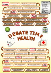 English Worksheets: Debate time HEALTH