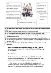 English Worksheets: to tell or not to tell
